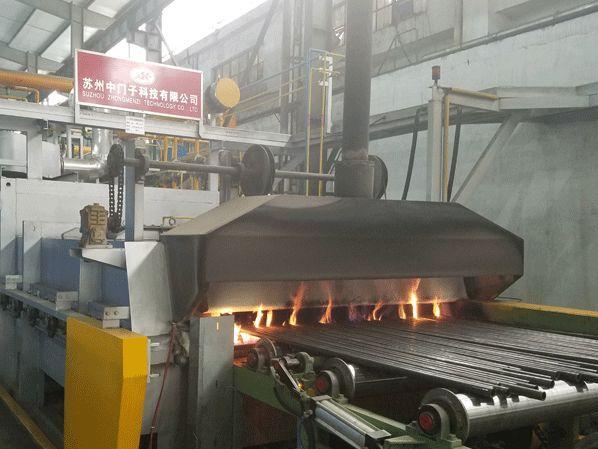 轴承钢管DX气氛退火辊底炉
